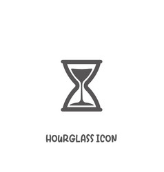 hourglass icon simple flat style vector image