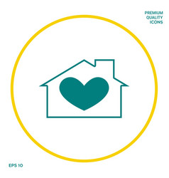 House with heart symbol graphic elements for your vector