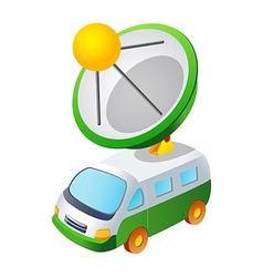 Icon car and antenna vector