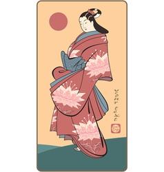 Japanese geisha vector