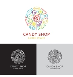 logo candy shop vector image