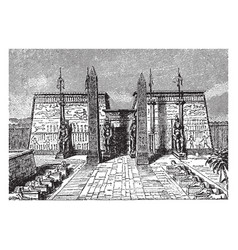 luxor temple large ancient egyptian temple vector image