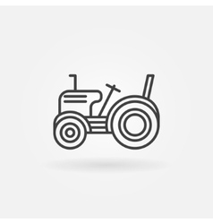 Mini tractor icon vector