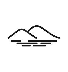 mountain graphic design template vector image