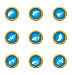 Nod icons set flat style vector