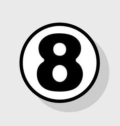 number 8 sign design template element vector image