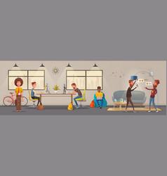 office interior vector image