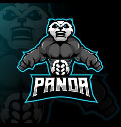 Panda mascot logo vector