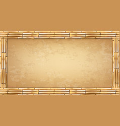 rectangle brown bamboo poles frame with vintage vector image
