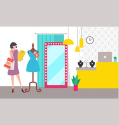 sale and discount shopping and boutique interior vector image