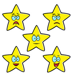 satisfaction level stars vector image vector image