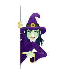 Scary witch support help consultation advice vector