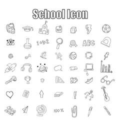 School and education icon drawing hand vector