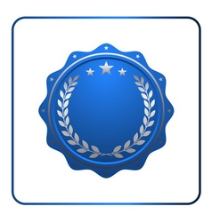 Seal award blue icon Blank medal vector image