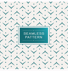 seamless pattern with simple line and shape vector image