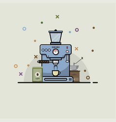 Set coffee maker vector