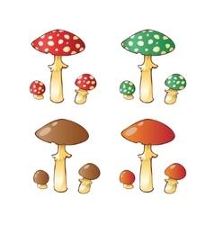 Set of mushroom family vector
