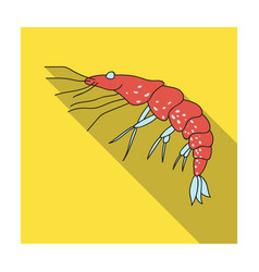 shrimp icon in flat style isolated on white vector image
