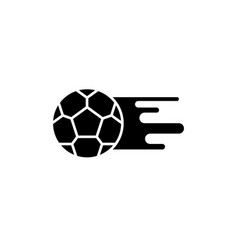 soccer ball black icon sign on isolated vector image