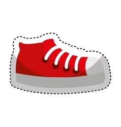 Sport shoes isolated icon vector