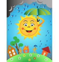 Sun and rain vector