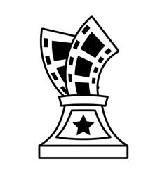 trophy film awards outline vector image