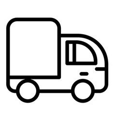 Truck line icon lorry vector