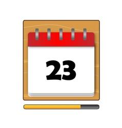 Twenty-three days on the calendar vector