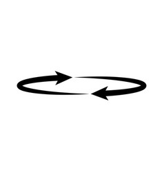 two arrows on the circle angle 360 vector image