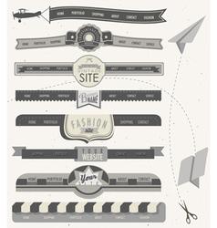 Website headers and navigation elements vector