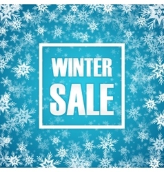 Winter sale inscription on background with vector image
