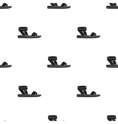 Woman sandals icon in black style isolated on vector