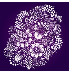Ethnic flower ornament vector image vector image