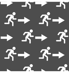 Exit arrow pattern seamless vector image vector image