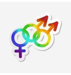 Gender identity icon Bisexual symbol vector image