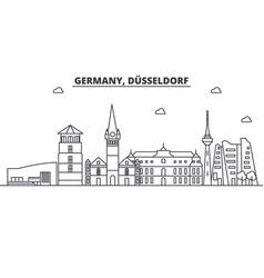 Germany dusseldorf architecture line skyline vector