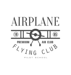 Premium Air Club Emblem Design vector image vector image