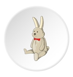 Toy bunny icon cartoon style vector image