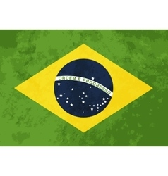 True proportions Brazil flag with texture vector image