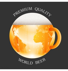 Conceptual beer label vector image