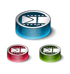 glossy media icon design vector image