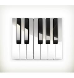 Octave piano keys vector image vector image