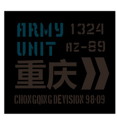 chongqing military plate design vector image vector image