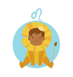 cute little boy as leo astrological sign vector image vector image
