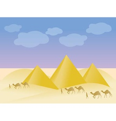 egypt and pyramid landscape vector image vector image