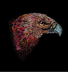Hand-drawn eagle vector image
