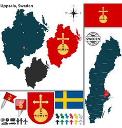 Map of Uppsala vector image