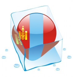 Mongolia flag vector image vector image