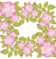 square flower pattern vector image vector image