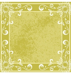 Background Sun curves and frame vector image vector image